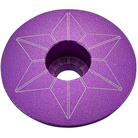 Supacaz Star Capz Ahead Cap anodised purple